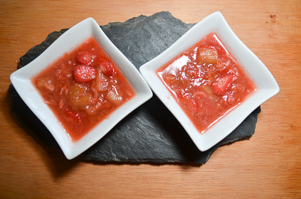 compote fraise rhubarbe coco
