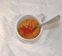 Soupe patate douce & tomate